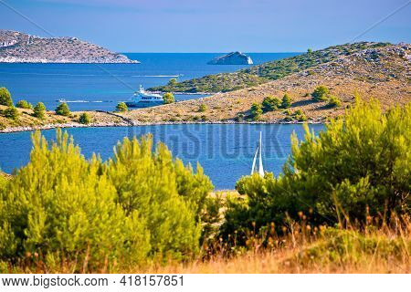 Amazing Kornati Islands National Park Archipelago Landscape View, Landscape Of Dalmatia, Croatia