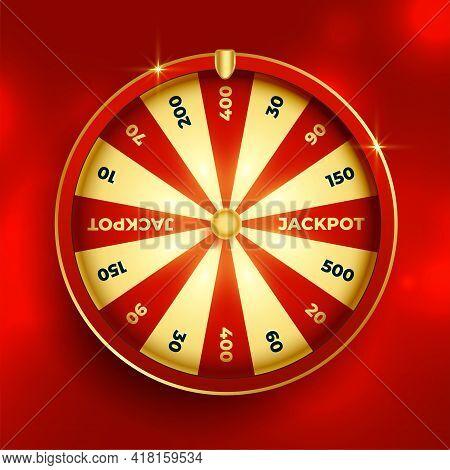 Fortune Wheel Lottery Luck Element Design Vector Illustration