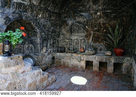 Santa Catalina Convent, Arequipa, Peru. Inside The Ancient Santa Catalina Convent In Arequipa, Peru.