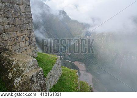Machu Picchu - Ancient City Of Incas. Old Stones Of Machu Picchu. Machu Picchu  - The Lost City Of T
