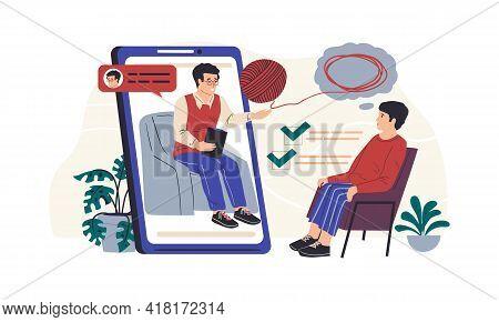 Online Therapy. Psychologist Counseling. Psychology Therapist Support. Psychotherapist Communication
