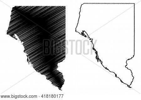 Buffalo County, State Of Wisconsin (u.s. County, United States Of America, Us) Map Vector Illustrati