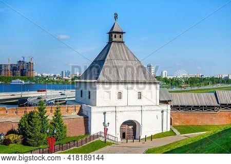 Taynitskaya (secret) Tower As Looks Inside Kremlin, Kazan, Russia. It's Named 'secret' As It Was Bui