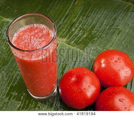 fresh healthy refreshing tomato juice