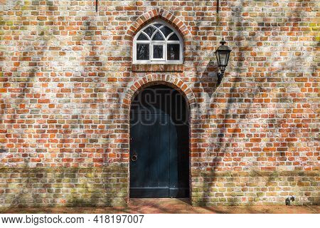 Entrance To The Reformed Church In Duurswoude, Netherlands