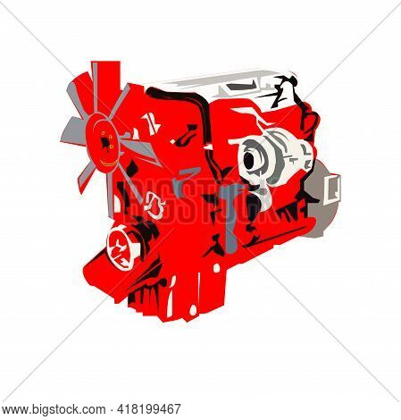 Illustration Vector Graphic Of Diesel Machine Design