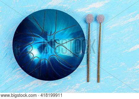 Hang, Handpad, Drum Musical Instrument. Steel Drum, Hangpan, Modern Musical Instrument