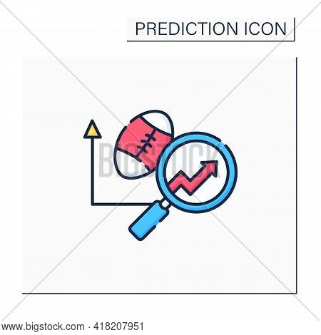 Sports Predictive Analytics Color Icon. Sports Betting. Team Rankings. Business Predicting Concept.i
