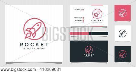 Rocket Launch Logo Vector Template Logo Design