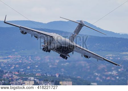 Budapest, Hungary - June 24, 2018: Nato Sac Strategic Airlift Capability Haw Heavy Airlift Wing Boei
