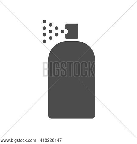 Spray Paint Vector Icon Isolated On White. Spray Paint Silhouette Icon Symbol For Web, Mobile Apps,