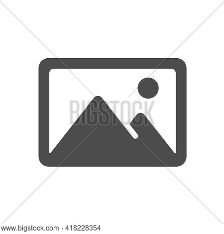 Image Vector Icon Isolated On White. Image Picture Silhouette Icon Symbol For Web, Mobile Apps, Ui D