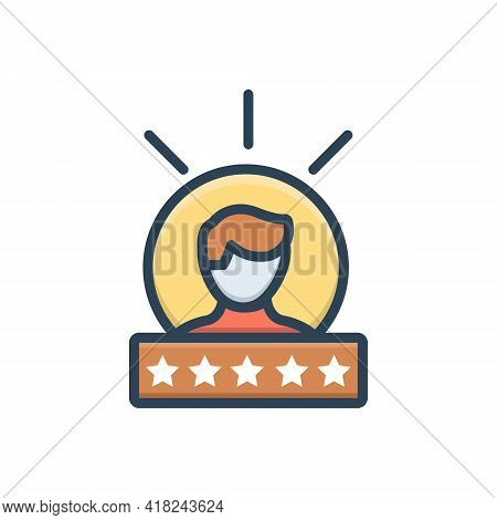 Color Illustration Icon For Experience Feedback Testimonial Review