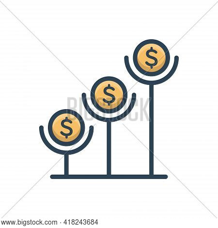 Color Illustration Icon For Interest-rate Interest Rate Finance  Growth  Investment