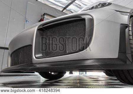 Air Intake Vents On The Front Of This Sports Car Takes Advantage Of The Natural Cooling Features Of