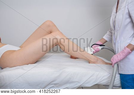 Laser Epilation And Cosmetology In Beauty Salon. Hair Removal Procedure. Laser Epilation, Cosmetolog
