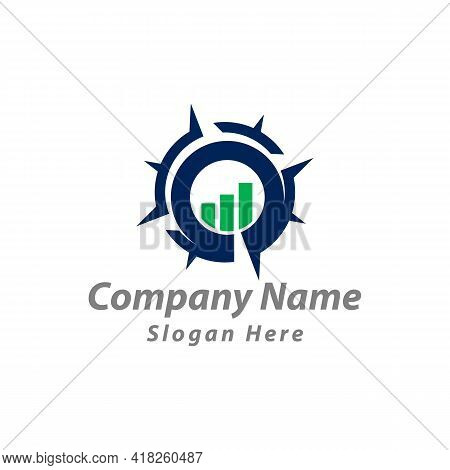 Symbol Icon Compass Financial Logo Design Inspiration.eps10