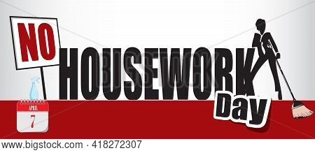 Card For Event April Day No Housework Day