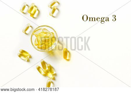 Oil Filled Capsules (softgel) Of Food Supplements: Fish Oil, Omega 3, Omega 6, Omega 9, Vitamin A, V