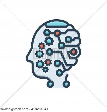 Color Illustration For Mind Headpiece Nous Wit Sense Intellect