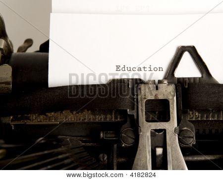 Education Written On Typewritter