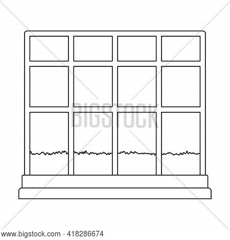 Greenhouse Vector Outline Icon. Vector Illustration Greenhouse On White Background. Isolated Outline