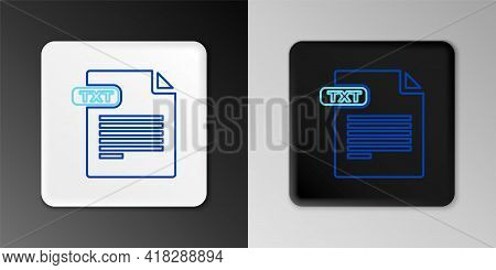 Line Txt File Document. Download Txt Button Icon Isolated On Grey Background. Text File Extension Sy
