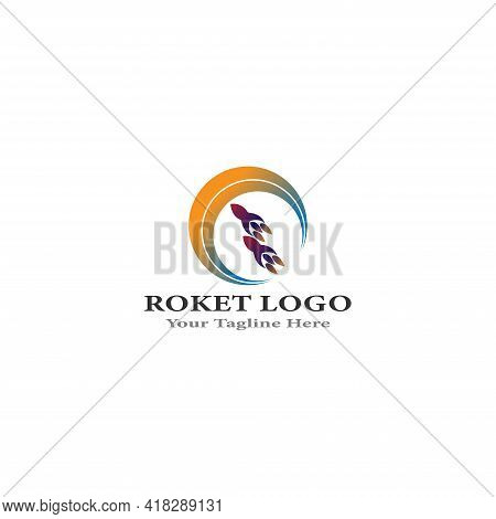 Rocket Logo  Sky Booster Logo Design Illustration  Rocket Vector Icon Template  The Rocket Logo That