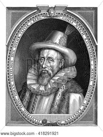 Portrait of Johan Willem van Kleef, Duke of Cleves, Jülich and Berg and Count of Ravensburg and the manor of Ravenstein, with a hat on his head.