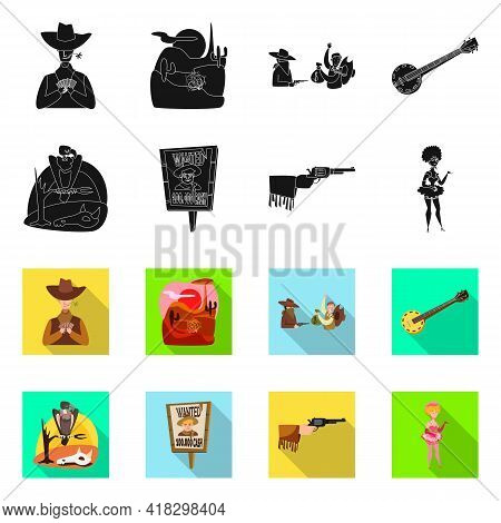 Isolated Object Of Texas And History Icon. Collection Of Texas And Culture Stock Vector Illustration
