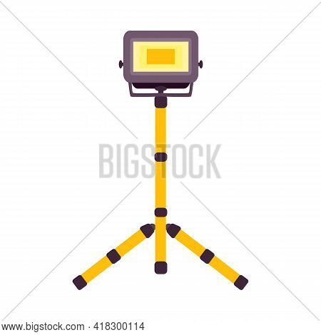 Vector Illustration Of Spotlight And Electric Symbol. Web Element Of Spotlight And Projector Vector