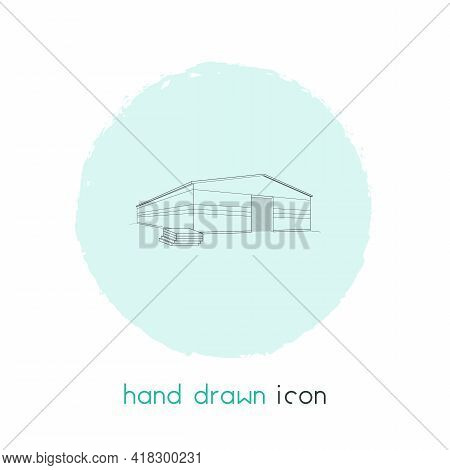 Warehouse Icon Line Element. Vector Illustration Of Warehouse Icon Line Isolated On Clean Background