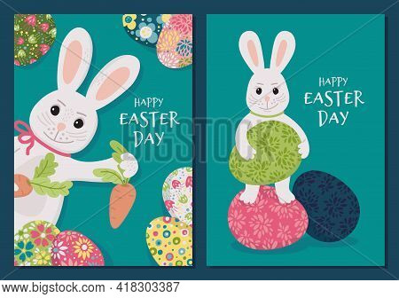 Easter Bunny 1 - Set Of Cards.eps