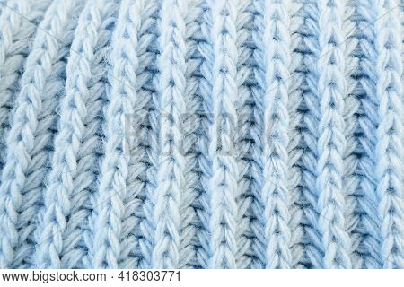 Details Of Knitted Woolen Fabric. Textile Background. Woolen Texture Background, Knitted Wool Fabric