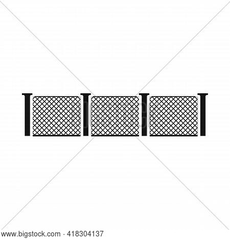 Isolated Object Of Fence And Wall Sign. Graphic Of Fence And Border Stock Vector Illustration.