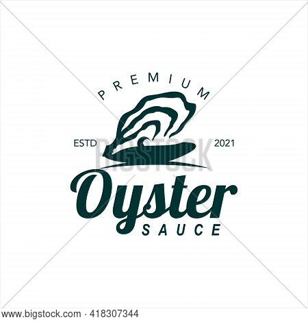 Premium Oyster Sauce Logo Seafood Flavor Label And Sticker For Culinary Industry Graphic Design Insp