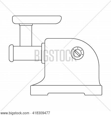 Grinder Meat Vector Icon.outline Vector Icon Isolated On White Background Grinder Meat.