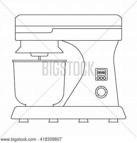 Mixer Vector Icon.outline Vector Icon Isolated On White Background Mixer.
