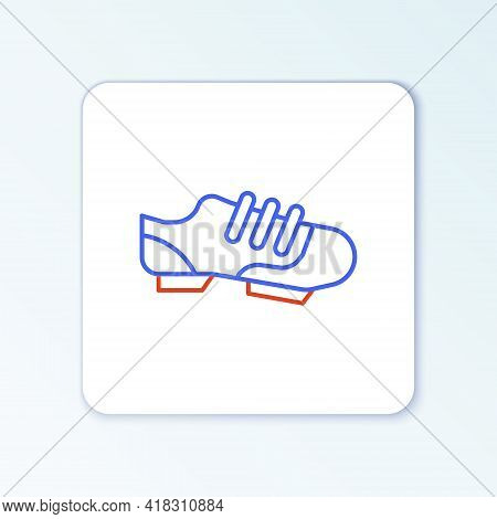 Line Triathlon Cycling Shoes Icon Isolated On White Background. Sport Shoes, Bicycle Shoes. Colorful