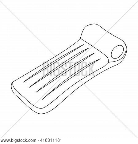 Inflatable Mattress Vector Icon.outline Vector Icon Isolated On White Background Inflatable Mattress