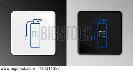 Line Fire Extinguisher Icon Isolated On Grey Background. Colorful Outline Concept. Vector