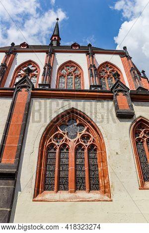 Window Of The Liebfrauenkirche Church In Koblenz, Germany