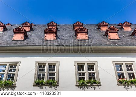 Roof And Windows Of A Historic Building In Koblenz, Germany