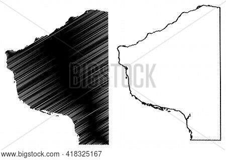 Grant County, State Of Wisconsin (u.s. County, United States Of America, Us) Map Vector Illustration