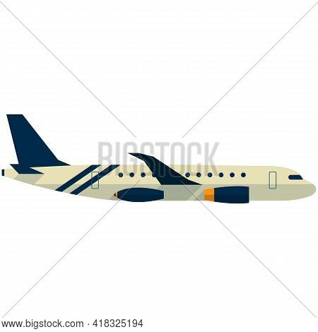 Plane Vector Icon Illustration, Aircraft Jet For Travel