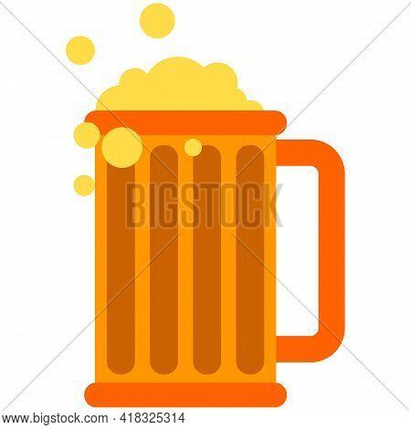 Beer Glass Vector Pint Mug Illustration On White