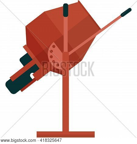 Mixer For Cement And Concrete Icon Vector On White