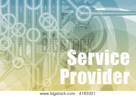 Service Provider Abstract Background in Blue Color poster