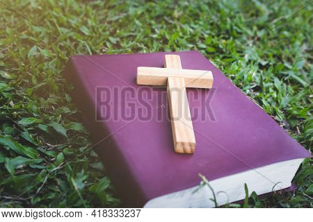 The Cross Is Placed On The Bible. It Was A Wish From God. It Represents Forgiveness By The Power Of