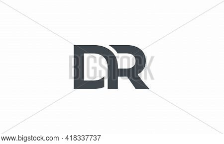 Dr Initial Letter Logo Concept Isolated On White Background.